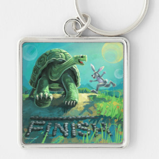 Tortoise and the Hare Art Key Ring