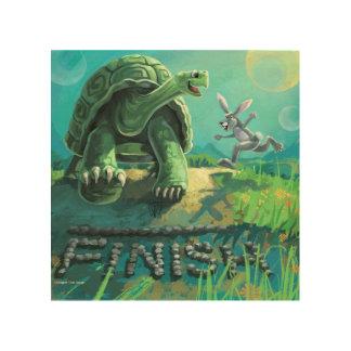 Tortoise and the  Hare Art Wood Print