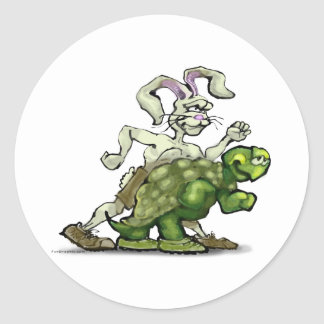 Tortoise and the Hare Classic Round Sticker