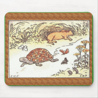 Tortoise and the hare mouse mat