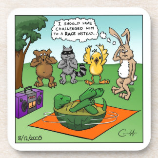Tortoise and the Hare Revisted Beverage Coasters