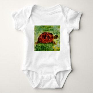 Tortoise Animal Art Baby Bodysuit