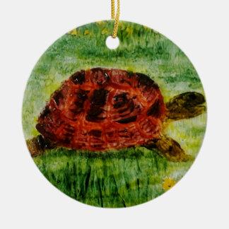 Tortoise Animal Art Christmas Ornament