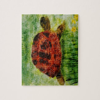 Tortoise Animal Art Jigsaw Puzzle