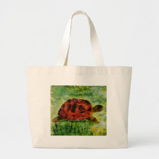 Tortoise Animal Art Large Tote Bag