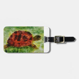 Tortoise Animal Art Luggage Tag