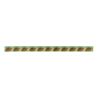 Tortoise Animal Art Satin Ribbon