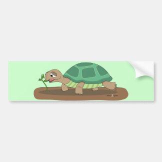 Tortoise eating bumper sticker