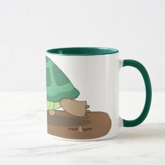Tortoise eating mug