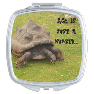 Tortoise funny compact mirror