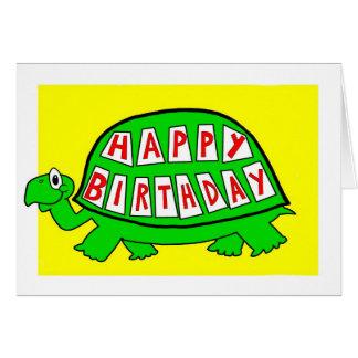 Tortoise Happy Birthday Card