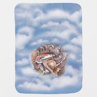 Tortoise in Cloud Baby Blanket