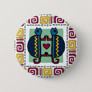 tortoise-in-love 6 cm round badge