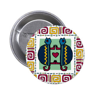 tortoise-in-love 6 cm round badge