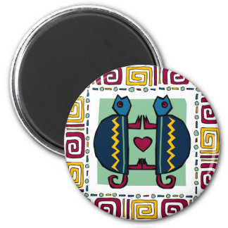 tortoise-in-love 6 cm round magnet