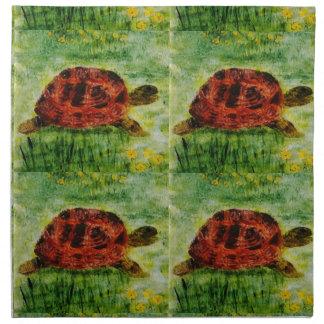 Tortoise Napkins Animal Art