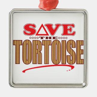 Tortoise Save Christmas Ornament