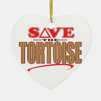 Tortoise Save Christmas Ornament