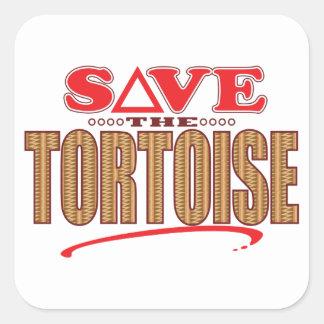 Tortoise Save Square Sticker
