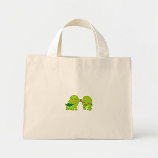 tortoises in luv mini tote bag