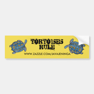 Tortoises Rule Bumper Sticker