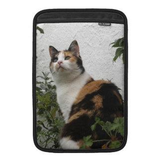 Tortoiseshell and White Cat Sleeves For MacBook Air