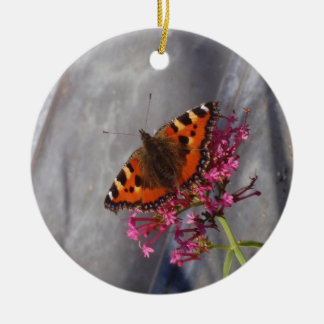Tortoiseshell Butterfly Christmas Ornament