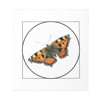 Tortoiseshell Butterfly Watercolor Painting Notepad