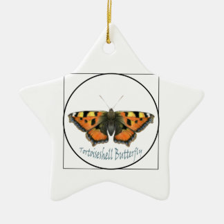 Tortoiseshell Butterfly Watercolour Painting Christmas Ornament