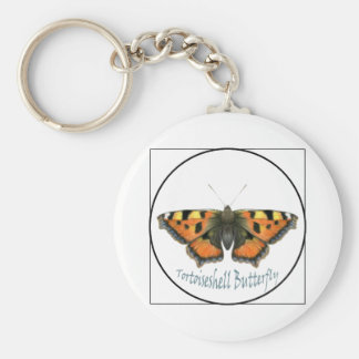 Tortoiseshell Butterfly Watercolour Painting Key Ring