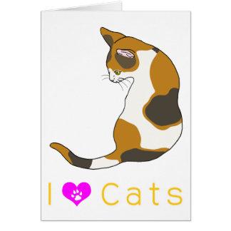tortoiseshell cat greeting cards