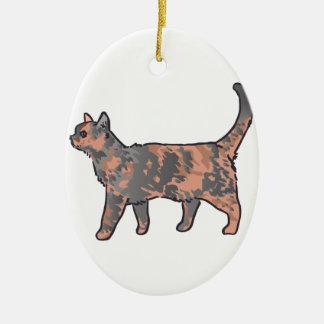Tortoiseshell Cat Christmas Ornament