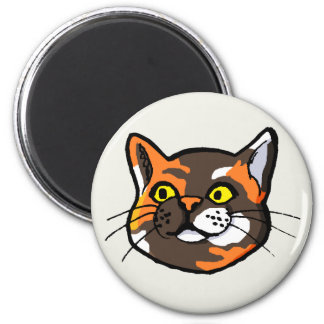 Tortoiseshell Cat Drawing Fridge Magnet