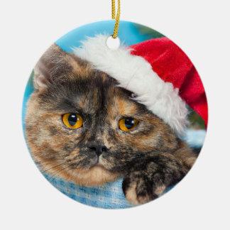 Tortoiseshell Cat Purr-fect Holiday Season Christmas Ornament