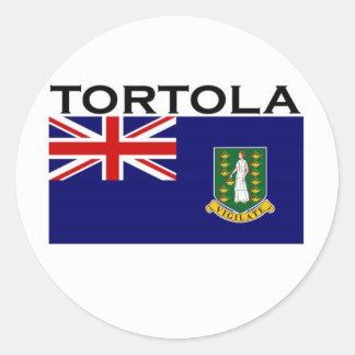 Tortola Classic Round Sticker