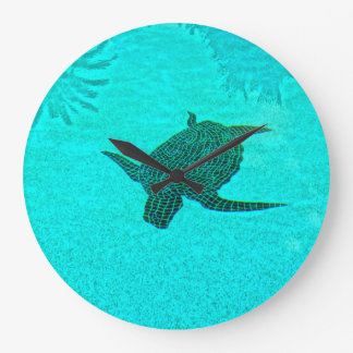 Tortuga Turtle Mosaic on Sanibel Island Florida Large Clock