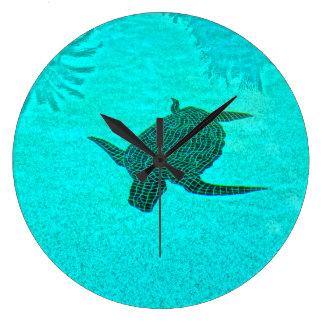 Tortuga Turtle Mosaic on Sanibel Island Florida Wallclock