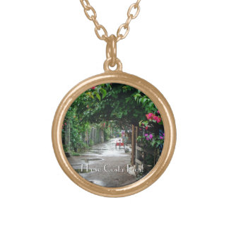 Tortuguero after the Rain Gold Plated Necklace