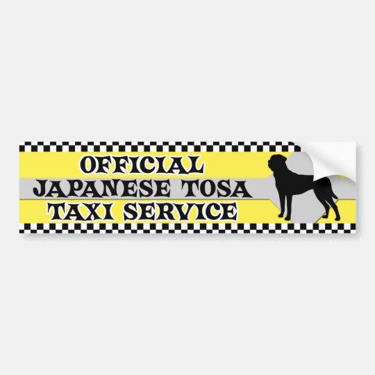 Tosa Inu Taxi Service Bumper Sticker
