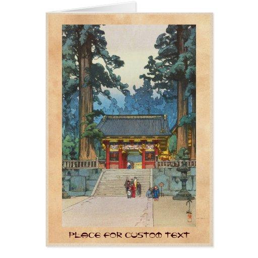 Toshogu Shrine Hiroshi Yoshida japanese fine art Cards
