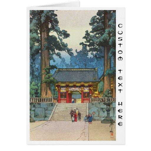 Toshogu Shrine Hiroshi Yoshida japanese fine art Card