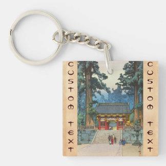 Toshogu Shrine Hiroshi Yoshida japanese fine art Double-Sided Square Acrylic Key Ring