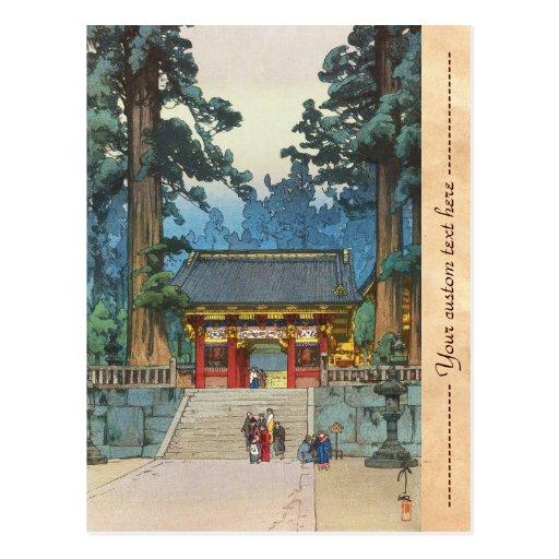 Toshogu Shrine Hiroshi Yoshida japanese fine art Postcards