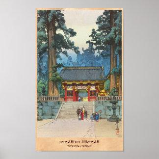 Toshogu Shrine Hiroshi Yoshida japanese fine art Poster
