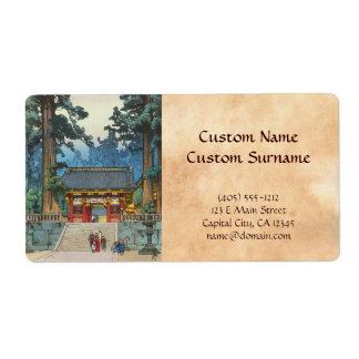 Toshogu Shrine Hiroshi Yoshida japanese fine art Shipping Label