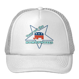Toss Out the Republican Homophobes Mesh Hat