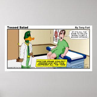 Tossed Salad Sunday Cartoon Print