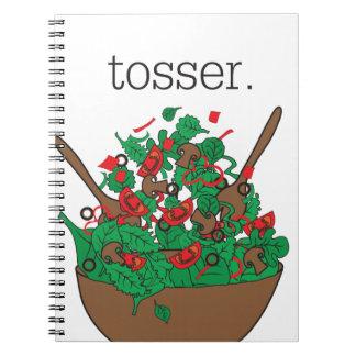 tosser. (salad) notebooks