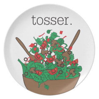 tosser. (salad) party plate