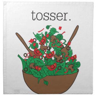 tosser. (salad) printed napkins